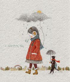 투덜투덜투덜.... 휴우~~~~ 투덜투덜투덜.... 휴우~~~~ 한겨울에 비를 만난 듯 축축하고 냉랭하고 으슬으슬한 기분.... 나를 둘러싼 모든 것에 기분이 나빠 투덜투덜투덜.... 내게 올 모든 일들에 걱정이 되어 또 다시 한숨이....휴우~~~~~