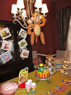 Curious George Birthday table