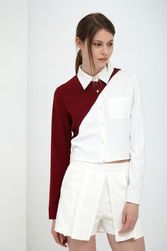 Boxy Shirt -love the cut, love the contrast, love the colour source: http://www.lavishalice.com/