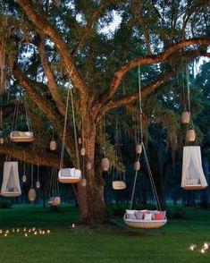 Backyard Patio Designs, Backyard Landscaping, Backyard Hammock, Hammock Swing, Backyard Playground, Hanging Furniture, Hanging Chair, Hanging Beds, Outdoor Wicker Furniture