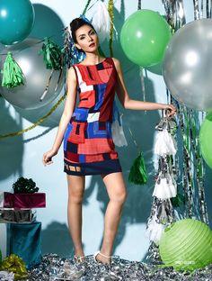 Lookbook - Plains and Prints Colour Field, Peplum Dress, Holiday, Prints, Color, Collection, Dresses, Fashion, Vestidos