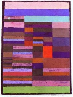 Individualized Altimetry of Stripes, 1930, Paul Klee    Medium: pastel