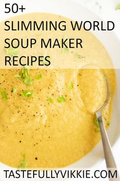 50 Slimming World Soup Maker Recipes - Tastefully Vikkie - Slimming World Soup Maker Recipes - astuce recette minceur girl world world recipes world snacks Slimming World Soup Recipes, Slimming World Speed Food, Slimming World Free, Slimming World Dinners, Slimming Eats, Healthy Soup, Easy Healthy Recipes, Diet Recipes, Cooking Recipes