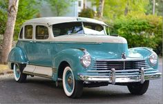 This gorgeous award winning 1947 Hudson Super 8 is simply one of a kind. This Hudson Super 8 showed the least amount of wear, tear and deterioration of any vintage car we have ever restored. or have ever seen in the past 36 years. Classic Trucks, Classic Cars, K100 Bmw, Hudson Car, Audi 100, Old School Cars, Limousine, Unique Cars, Us Cars