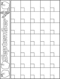 September Calendar Template Classroom Preschool Kids Pictures Teacher