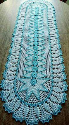 Crochet Flower Patterns, Crochet Doilies, Knitting Patterns, Crochet Kitchen, Crochet Home, Crocodile Stitch, Crochet Table Runner, Filet Crochet, Beautiful Crochet