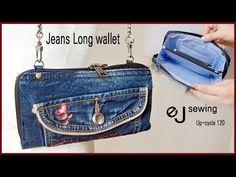 EJ-Up cycle120/ Jeans Long wallet /장지갑 만들기/데님 /DIY BAG SEWING TUTORIALDIY/CRAFTS/MAKE A BAG/싱거미싱 - YouTube Denim Bag, Long Wallet, Purses And Bags, Upcycle, Coin Purse, Shoulder Bag, Sewing, Stuff To Buy, Fabric