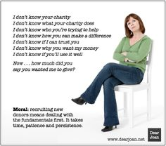 "How ""The Main In the Chair"" can help you recruit new donors more effectively (via www.dearjoan.net)"