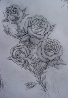 roses tattoo- more of the style of what I'm looking for, four roses too!