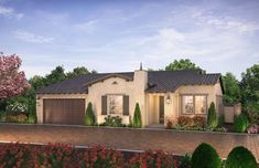 Citron at The Grove in Camarillo, CA by Shea Homes | Residence 1C Exterior Rendering   #sheahomes #sheahomessocal #livethedifference #liveethesheadifference #CitronAtTheGrove #Camarillo #newhomes #venturanewhomes #venturacounty #realestate Sales: Shea Homes Marketing Company (CalDRE #01378646), Construction: SHSC GC, Inc. (CSLB #1012096). Equal Housing Opportunity.