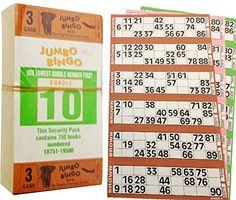 Kelly's Eye Jumbo Bingo Book 3 page tickets) Bingo Tickets, Bingo Games, Bingo Books, Eyes