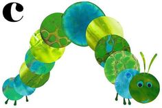 Nursery Art  C is for Caterpillar with a Black C by KathyPanton, $18.00