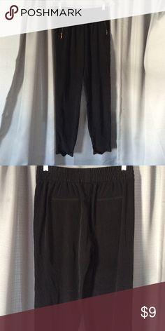 Black jogger trousers Black trouser joggers with gold zipper pockets. Forever 21 Pants Trousers