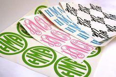 I am loving these! Sheet of 9 Custom Vinyl Vine/ Circle/ Block/ by MissHeatherAnne, $30.00
