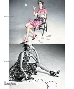 Neiman Marcus enlists top models Ginta Lapina & Fei Fei Sun to star in their Spring Summer 2014 campaign. Spring 2014, Summer 2014, Spring Summer, New Advertisement, Ads, Fei Fei Sun, Fashion Art, Spring Fashion, Ginta Lapina