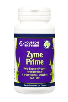 Zyme Prime helps you digest carbohydrates and fats. Helps with lactose intolerance, gas and bloating.