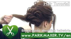 Bridal updo. Wedding hairstyle. Victoria Skimbator ★★★★★  parikmaxer TV USA