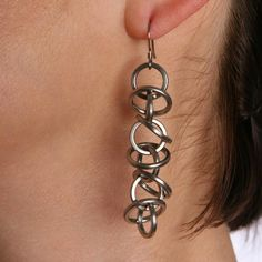 Rapt In Maille — HALO Architectural Earrings