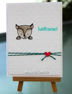 maikreations.de You can find instructions for this card on my blog and also a list of the supplies I used.  Image is a cute new stamp from Create a Smile Stamps! Happy Crafting ;o)