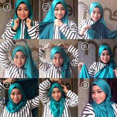 Our tutorial hijab style
