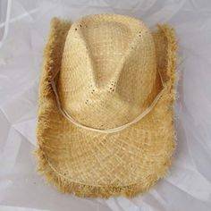 12.52 Casual Simple Solid Color Rope Cowboy Hat For Women Vintage  Accessories 3669016258406
