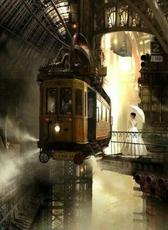 Steampunk Monorail car like the old M @ F Stores...at Christmas