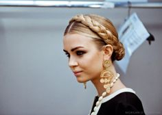 Statement earrings are a timeless accessory that glam up any up-do.