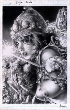 Dejah Thoris by Jay Anacleto, in Carlos Simoes's Dejah Thoris Collection Comic Art Gallery Room - 984663