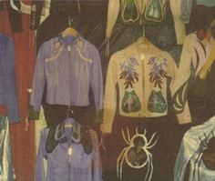 East West Vintage Musical Instrument wall of jackets (Leather Jacket Nirvana, perhaps?)