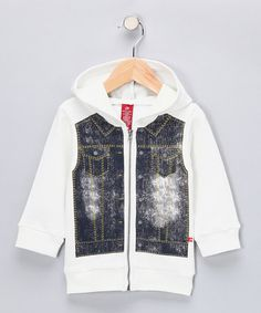 Take a look at this Denim Zip-Up Hoodie - Infant by Blow-Out on #zulily today!#zulily and #fall