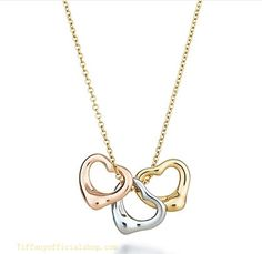 Tiffany Outlet Three Heart Pendant