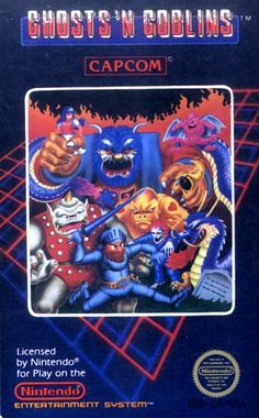 Ghosts 'n Goblins - Label or Box Art #nintendo games #gamer #snes #original #classic #pin #synergeticideas #gameon #play #award