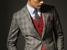 Massimo Dutti - Cashmere Checkered Suit