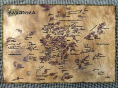 MADE TO ORDER. Big handdrawn realistic Earthsea map. by Hekaterium