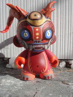 """Custom demon monkey Munny 4"""" by missmonster on DeviantArt"""