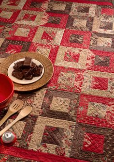 love brown, red and cream together--- verry pretty!