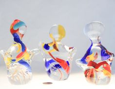 Unique Hand Made Glass Art Sculpture set of by ClassicalTwistGlass, $60.00  Photo by Charlotte Marie Wood.