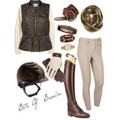 """""""Bits Of Brown"""" by thoroughbredwonder on Polyvore"""
