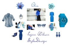 """Blue"" by homestyledesigner on Polyvore featuring Topshop and L.K.Bennett"