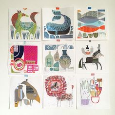 I have decided to have a series of limited edition prints made from some of the collages I created for the #100dayproject I can't decide which ones and I keep changing my mind! #collage #prints