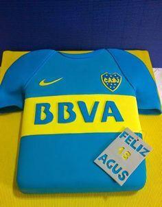 PATHALMA - Patricia y Pablo: Torta camiseta, Boca juniors, torta artesanal de boca, torta boca