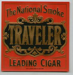 TRAVELER cigar box label