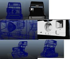 Polaroid - Maya autodesk Model (c) Kraus Philipp 3d Modeling, Maya, Polaroid, Templates, Concept, Tutorials, Polaroid Camera, Maya Civilization