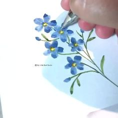 Watercolor Paintings For Beginners, Watercolor Video, Watercolor Cards, Floral Watercolor, Watercolor Beginner, Flower Drawing Tutorials, Simple Flower Drawing, Watercolor Flowers Tutorial, Team Member