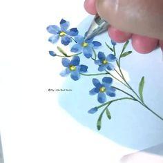 Watercolor Cards, Floral Watercolor, Watercolor Flowers Tutorial, Watercolor Paintings For Beginners, Flower Doodles, Art Lessons, Flower Art, Team Member, Blooms Taxonomy