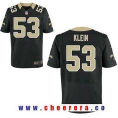 1784a08c Men's New Orleans Saints #53 A. J. Klein Black Team Color Stitched NFL Nike  Elite Jersey