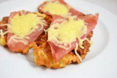 Kartoffelpuffer mit Schinken und Käse
