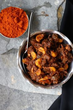 A Bit of This and A Bit of That: Erachi Achar - Beef Pickle Indian Beef Recipes, Spicy Recipes, Ethnic Recipes, Bhutan Food, Food N, Food And Drink, Bengali Food, Beef Curry, Fried Beef