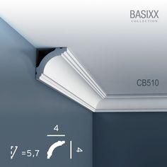 6,16 € Orac Decor BASIXX Deckenleiste Eckleiste CB510 Profilleiste Stuckleiste Zierleisten Zierprofile