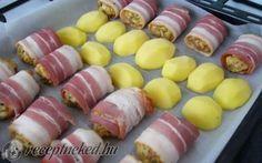 Füszerezett darált hús baconbe tekerve